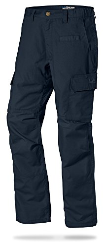 LA Police Gear Mens Urban Ops Tactical Cargo Pants - Elastic WB - YKK Zipper - Navy - 38 x 32