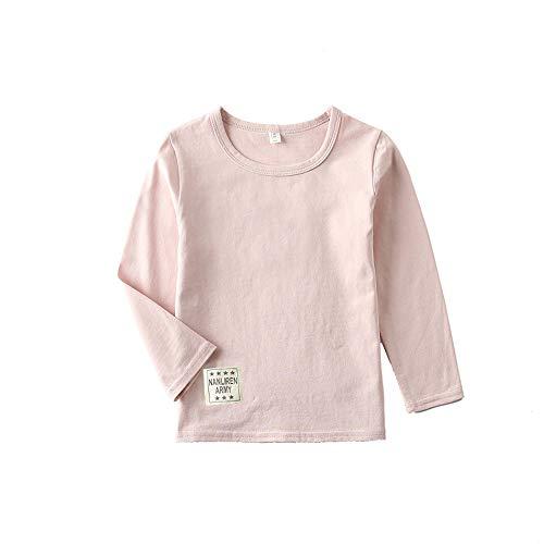BLOSSOMLIFE Boys Top Tees Cotton Children Tshirts(Pink-Long Sleeve, 6/7-Tag -