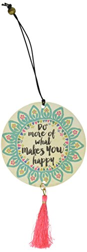 "Price comparison product image Natural Life ""Do More of What Makes You Happy"" Tassel Air Freshener, Set of 2"