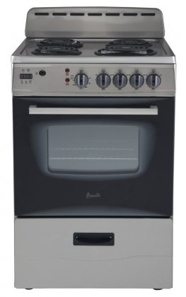 Avanti ER24P3SG 24″ Freestanding Electric Range with Deluxe See-Thru Glass Oven Door in Stainless Steel