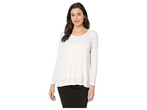 Elliott Lauren Women's Scoop Neck Double Layer Top White X-Small