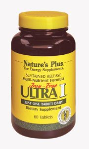 Natures Plus Ultra I Multi Iron Free – 90 Vegetarian Tablets, Sustained Release – Maximum Absorption High Potency Multivitamin & Mineral Supplement – 90 Servings For Sale