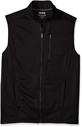 IZOD Men's Big and Tall Advantage Performance Spectator Fleece Vest, New Black, X-Large