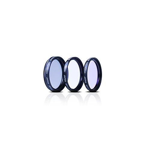 Zeikos 43mm Multi-Coated 3-piece Glass Filter Set (UV, Fluorescent, Circular Polarizer) For Canon Vixia HF R80, HF R82, HF R800, HF R70, HF R72, HF R700, HFM40, HFM41, HFM52, HFM400 & HFM500 Camcorder
