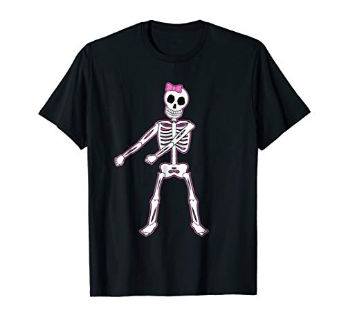 Halloween Pink Hair Bow Skeleton Floss Dancer Girls -