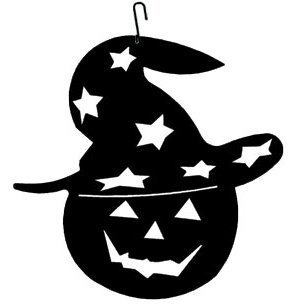 Village Wrought Iron HOS-233 Pumpkin-Halloween Silhouette Decoration by Village Wrought Iron]()