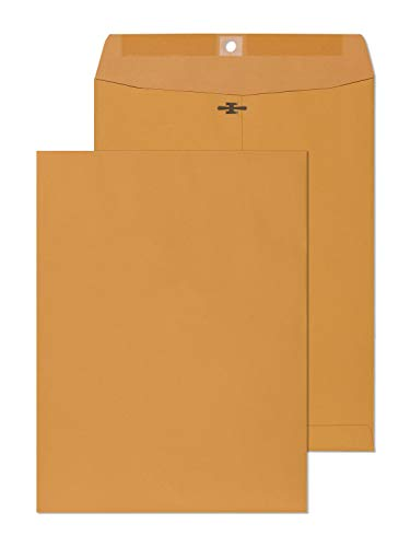 Clasp Envelopes - 6x9 Inch Brown Kraft Catalog Envelopes with Clasp Closure & Gummed Seal - 28lb Heavyweight Paper Envelopes for Home, Office, Mailing, Business, Legal or School 6 x 9 Manila 30 Count
