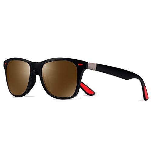 CHEREEKI Polarisierte Mode Sonnenbrille mit UV400 Schutz Unisex Luxus Klassische Brille für Herren Damen
