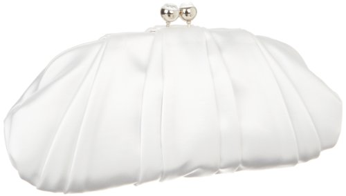 Nine West Bridal Collection Jewel Kisslock Clutch,White,One Size, Bags Central