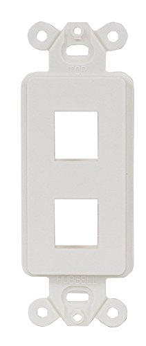 (Hubbell ISF2OW Plate Decorator Frame, 2 Port, Office White)
