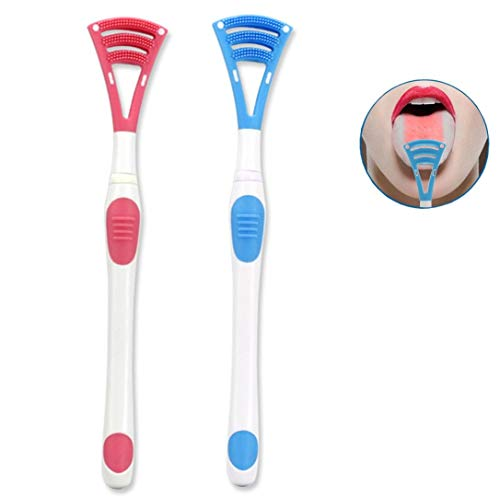 Tongue Brush,Cleaner Scrapers for Oral Care,Easy to Use Oral Irrigator (2pieces) from BeauTy Nymph