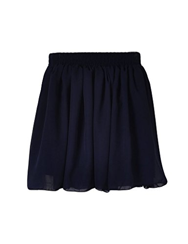 Jupe lastique taille marin bleu Jueshanzj et femme midi UnSw7Fg