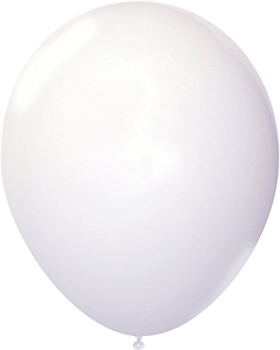 72 Packs 12 inch Party Balloons, Pearlized Balloons, Helium Quality, Gold & Silver Latex Party Balloons, Kids Party Supplies Wedding Decoration, Christmas or Birthday Decoration (White) -