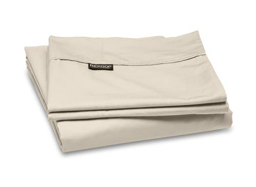 REKOOP Eco-Friendly Sheets, Cotton Rich, Smooth Percale Weave, 3 Piece Twin XL Sheet Set, 15