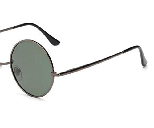 redondo estilo conduce gafas viajar de de que UV400 Gafas unisex sol Green del protección Marco polarizadas la hombres para Dark los de clásico ZZUxqTPw