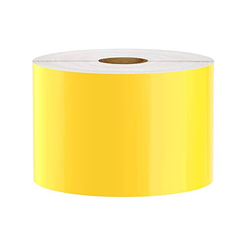 Premium Vinyl Label Tape for DuraLabel, LabelTac, SafetyPro and Others, Yellow, 3
