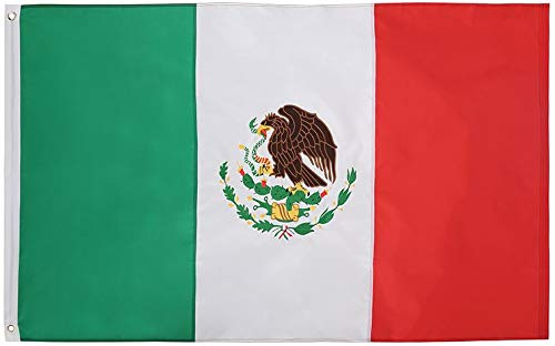 Cascade Point Flags 3x5 Foot Nylon Mexican Flag Oxford 210D