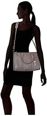 Fossil Kendall Large Satchel-Grey