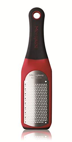 Microplane 42102 Artisan Fine Cheese Grater-Citrus Zester- Red