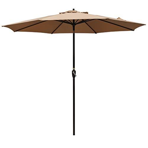 - Sundale Outdoor 10FT Market Umbrella Table Umbrella with Crank and Auto Tilt, Aluminum Ribs, Polyester Canopy Shade for Patio, Garden, Deck, Backyard, Pool, Tan