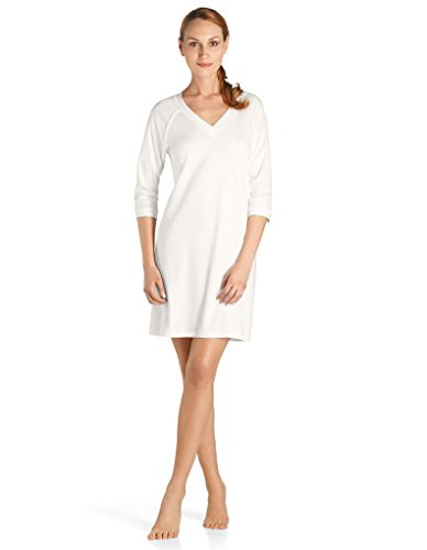 Off Hanro White Donna Notte Camicia Da xIYfqO8