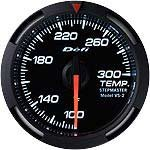 Defi DF06703 Racer Water/Oil Temperature Gauge, White, 52mm