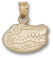 University of Florida Gator Head Pendant 3/8 Inch - 14K Yellow Gold by LogoArt