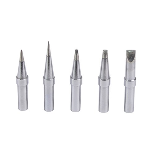 TECKE 5PCS ET Series Replacement Tips Set for Weller WES51 WESD51 WE1010NA WCC100 PES51