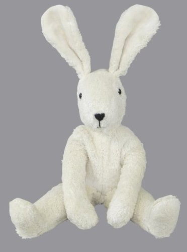 Senger Stuffed Animals - Floppy Bunny Rabbit - Handmade 100% Organic Toy 12'' Tall - White by Senger