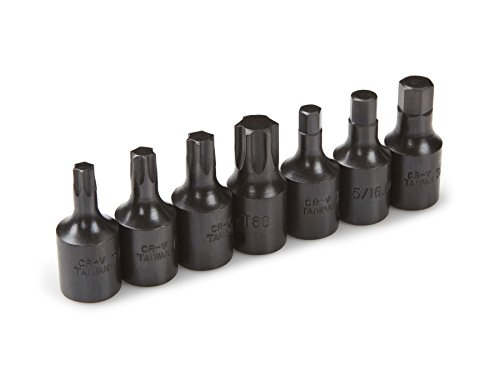TEKTON 4908 3/8-Inch Drive Brake Caliper Impact Bit Socket Set, T40 - T60, Cr-V, 7-Piece