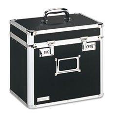 * Locking Security Storage Box, Letter, 13 1/2w x 10 1/2d x 13 1/4h, Bla