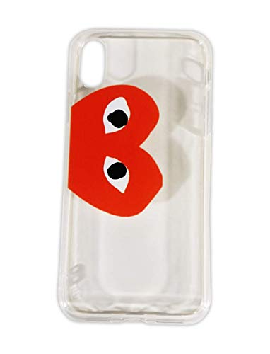 Comme des Garcons CDG Play Red Heart Logo Transparent Color PVC iPhone X Max | Mobile Phone Case