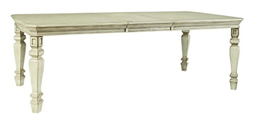 Signature Design by Ashley D693-35 Demarlos Collection Dining Room Table, Parchment (Distressed Antique Parchment Finish)