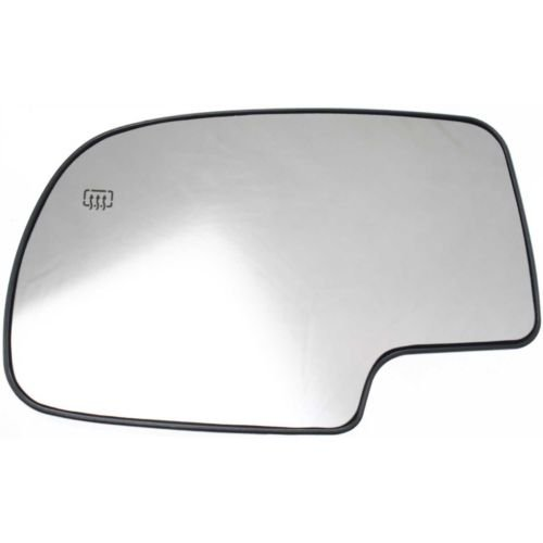 Make Auto Parts Manufacturing - Driver Side Mirror Glass Replacement Assembly For Chevrolet Silverado 1999-2007, Left Side Glass, Power, Heated With Backing Plate – (1500 Auto Body Mirror)