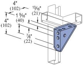 Price comparison product image Unistrut Universal Angle Bracket