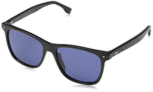 Fendi Men's FFM0002 Sunglasses, Black/Blue, 55-16-145 (Fendi Collection Mens)