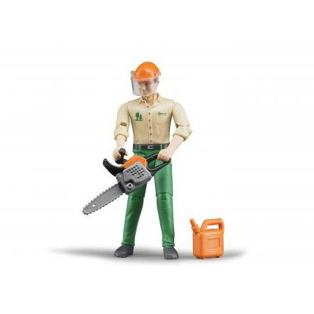 1/16th Bruder Forestry Worker with Chain Saw and Accessories