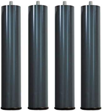 ACOMODAT Juego de 4 Patas Redondas Stonepik para Bases y somieres de Pikolin 14 cm Altura - Gris