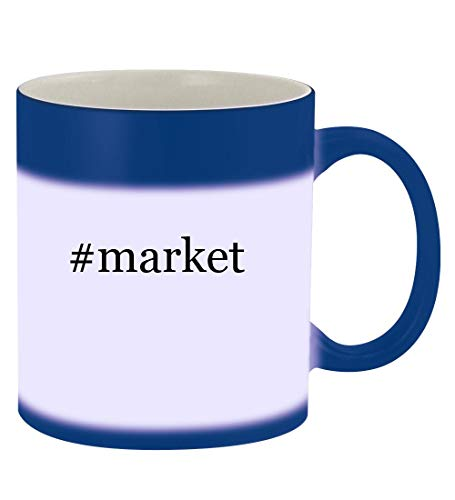 #market - 11oz Hashtag Magic Color Changing Mug, Blue