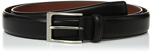 Perry Ellis Men's Big and Tall Portfolio Leather Amigo Dress Belt, black, 34