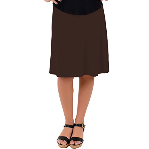 Stretch is Comfort Women's A-Line Skirt Brown Large
