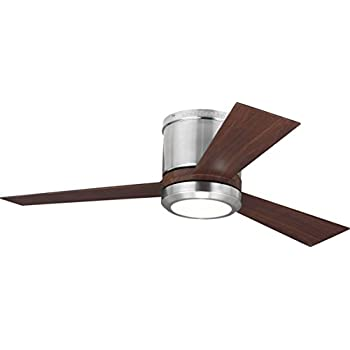 Monte carlo 3clyr42rzwd clarity ii flush mount 42 white ceiling monte carlo 3clyr42bsd clarity ii ceiling fan 42 brushed steel ceiling fan with led light and remote swarovskicordoba Image collections