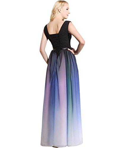 Brautjungfer Damen Bandage Chiffon UK16 Clearbridal SD341 Farbverlauf Abendkleid Formale Maxikleid Kleid w0dq1p