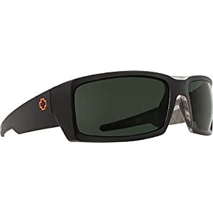 Spy Optic General Polarized Wrap Sunglasses, Decoy True Timber/Happy Gray/Green Polar, 1.5 mm