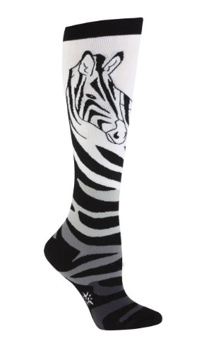 Sock It To Me Zebra Women's Knee High Socks,size 5-10