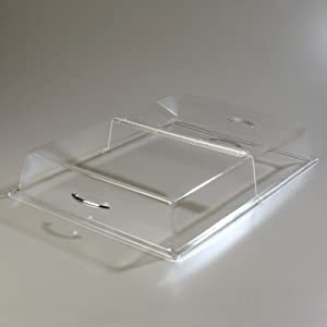 "Carlisle SC2607 Acrylic Pastry Tray Hinged Cover, 26.19 x 18.20 x 4"", Clear"