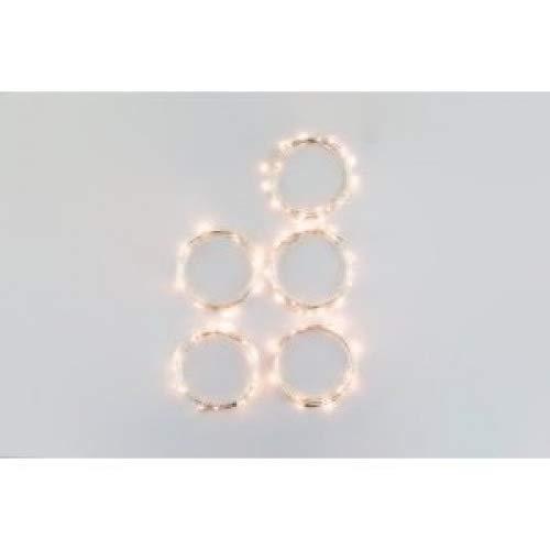 Paquete de 6juegos luna de luces LED 20Micro Leds estrellado en 3.5ft plata Ultra delgada cadena alambre de cobre, 2x...