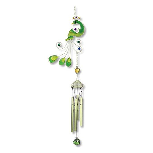 Carson Home Wind Chimes, Colorful Peacock Chimes, 1 Count...