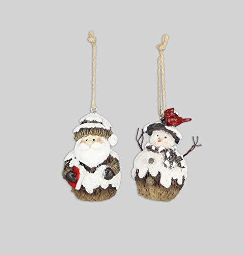(youngs Resin Snowman/Santa )