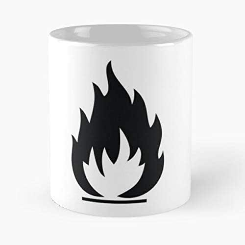 Ban Banned Cigarette Command Danger Explosive Fire Flames Flammable Forbidden Lights Naked Notice Prohibited Sign Smoke Smoking Sy - Funny Gifts For Men And Women Gift Coffee Mug Tea Cup White-11 Oz.